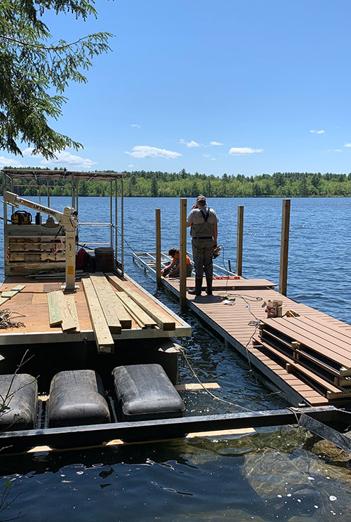 Dock installation